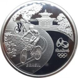 Moneta > 5reali, 2015 - Brazylia  (XXXI Letnie Igrzyska Olimpijskie, Río de Janeiro 2016 - Kolarstwo i marmozeta) - obverse