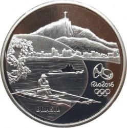 Moneta > 5reali, 2015 - Brazylia  (XXXI  Letnie Igrzyska Olimpijskie, Rio de Janeiro 2016 - Wioślarstwo i orchidea) - obverse