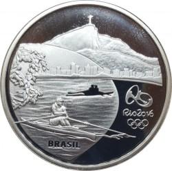 Moneta > 5reali, 2015 - Brazylia  (XXXI Letnie Igrzyska Olimpijskie, Río de Janeiro 2016 - Wioślarstwo i helikonia) - obverse