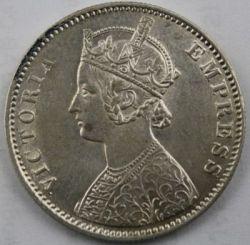 Monedă > 1rupie, 1877-1901 - India Britanică  - obverse