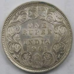 Monedă > 1rupie, 1877-1901 - India Britanică  - reverse