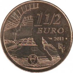Moneda > 1½euros, 2011 - Francia  (Clubs de Futbol - Olympique de Marsella) - obverse