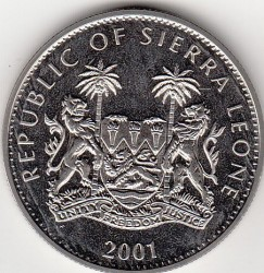 Moneta > 1dollaro, 2001 - Sierra Leone  (Grandi felini del mondo - Tigre) - reverse