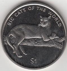 Moneta > 1dollaro, 2001 - Sierra Leone  (Grandi felini del mondo - Pantera nera) - reverse