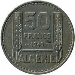 Монета > 50франков, 1949 - Алжир  - reverse