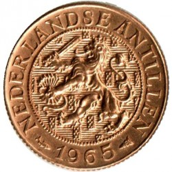 Moneda > 1centavo, 1952-1970 - Antillas Holandesas  - reverse