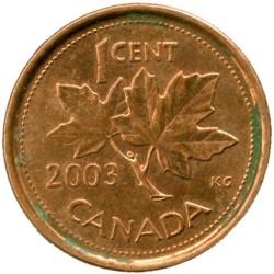 Moneta > 1cent, 2001-2003 - Kanada  - reverse