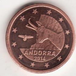 Coin > 1cent, 2014-2016 - Andorra  - obverse