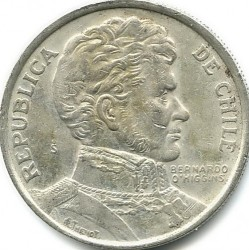 Moneda > 1 peso, 1975 - Chile  - obverse
