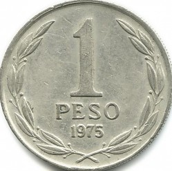 Moneda > 1 peso, 1975 - Chile  - reverse