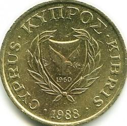 Pièce > 1cent, 1985-1990 - Chypre  - obverse