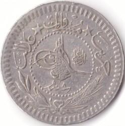"""錢幣 > 40帕拉, 1909 - 鄂圖曼帝國  (""""el-Ghazi"""" right of Toughra) - obverse"""