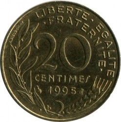 Coin > 20 centimes, 1995 - France  - obverse