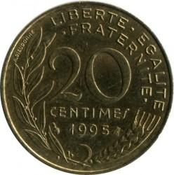 Moneda > 20céntimos, 1995 - Francia  - obverse
