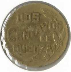 Moneta > 2centavos, 1943-1944 - Guatemala  - obverse