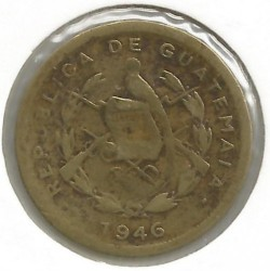 Moneda > 1centavo, 1932-1949 - Guatemala  - reverse
