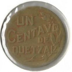 Munt > 1centavo, 1943-1944 - Guatemala  - reverse