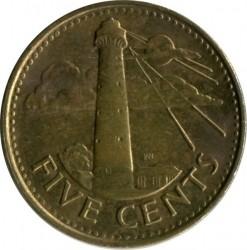 Münze > 5Cent, 2008-2016 - Barbados  - obverse