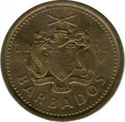 Münze > 5Cent, 2008-2016 - Barbados  - reverse