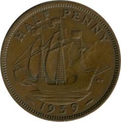 錢幣 > ½便士, 1939 - 英國  - obverse