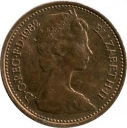 Монета > ½пенні, 1982-1984 - Велика Британія  - obverse
