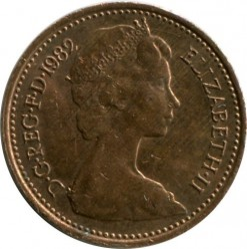 Монета > ½пенні, 1982-1984 - Велика Британія  - reverse
