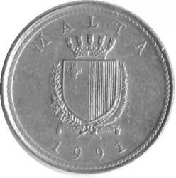 Coin > 2cents, 1991-2007 - Malta  - reverse