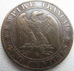 מטבע > 5סנטים, 1861-1865 - צרפת  - reverse