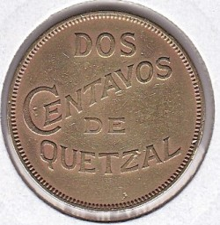 Moeda > 2centavos, 1932 - Guatemala  - obverse