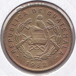 Moeda > 2centavos, 1932 - Guatemala  - reverse