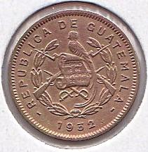 錢幣 > ½分, 1932 - 瓜地馬拉  - obverse