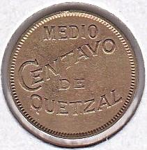 錢幣 > ½分, 1932 - 瓜地馬拉  - reverse