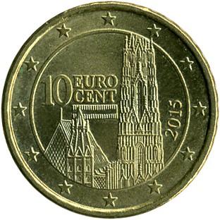 10 Eurocent 2008 2018 österreich Münzen Wert Ucoinnet