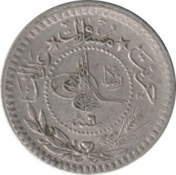 "Munt > 5 para, 1909 - Ottomaanse Rijk  (""Reshat"" right of Toughra) - obverse"