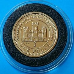 Moneta > 1sterlina, 1989 - Gibilterra  (150° anniversario - Valuta di Gibilterra) - reverse