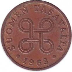 Moneta > 1pensas, 1963-1969 - Suomija  - reverse