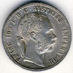 Münze > 1Florin, 1872-1892 - Österreich   - obverse