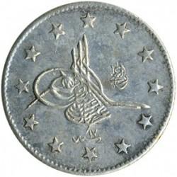 Munt > 2kurus, 1876 - Ottomaanse Rijk  (Ligature at the top right of Tugra) - obverse