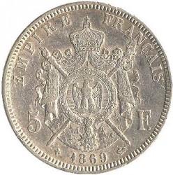 Монета > 5франка, 1861-1870 - Франция  - reverse