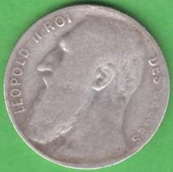 Coin > 50centimes, 1901 - Belgium  (Legend in French - 'DES BELGES') - obverse