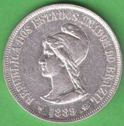 Münze > 500Réis, 1889 - Brasilien   - obverse