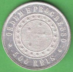 Münze > 500Réis, 1889 - Brasilien   - reverse