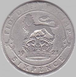 Minca > 6pence, 1921-1926 - Veľká Británia  - reverse