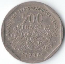 Moneda > 500francos, 1998 - África Central (BEAC)  - reverse