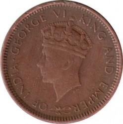 Coin > ½cent, 1937-1940 - Ceylon  - obverse