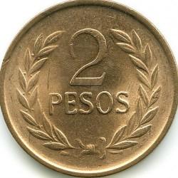 Moneta > 2pesos, 1977-1988 - Colombia  - reverse