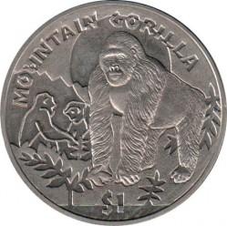 Νόμισμα > 1Δολάριο, 2011 - Σιέρρα Λεόνε  (Monkey - Mountain Gorilla) - reverse