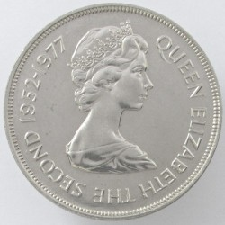 Münze > 25 Pence, 1977 - Guernsey  (25th Anniversary - Reign of Queen Elizabeth II) - obverse
