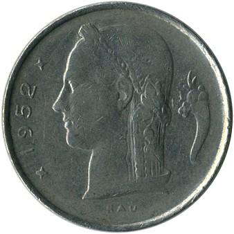 1 Franken 1950 1988 Belgique Belgien Münzen Wert Ucoinnet
