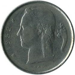 """Monēta > 1franks, 1950-1988 - Beļģija  (Uzraksts franču valodā - """"BELGIQUE"""") - obverse"""